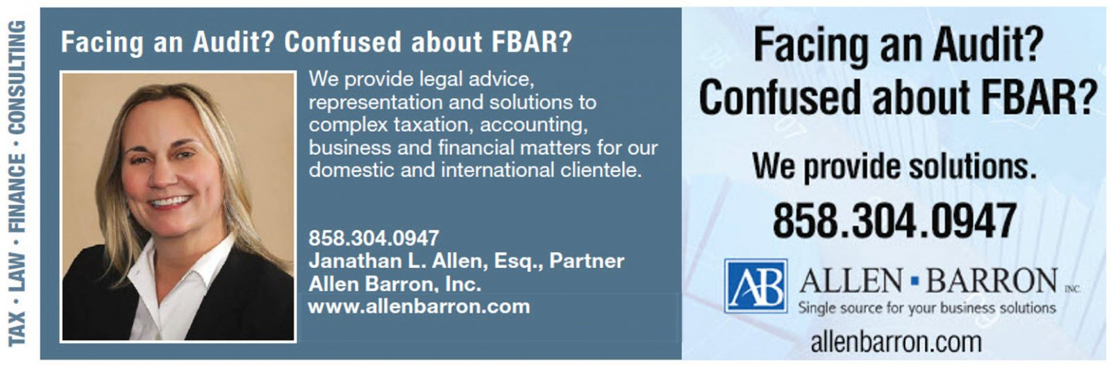 Best San Diego Tax, FBAR, and Business Attorney